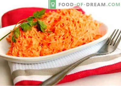 Salada de cenoura crua - as melhores receitas. Como corretamente e saboroso para preparar salada de cenoura crua.
