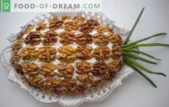 Ensalada con pollo, piña y nueces - ¡sabor real! Ideas interesantes para hacer ensaladas con pollo, piña y nueces