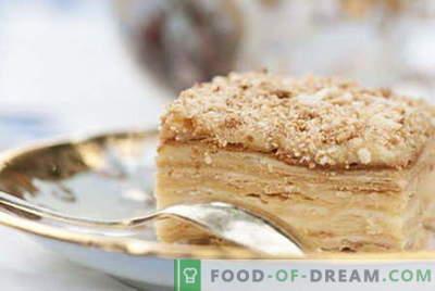 Bolo de Napoleão - as melhores receitas. Como corretamente e cozinhar o bolo de Napoleão.