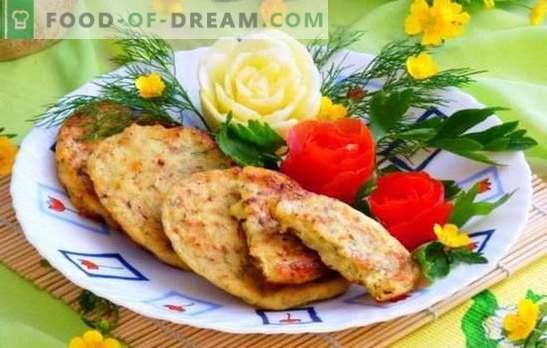 Bolinhos de abobrinha com queijo e alho são itens de confeitaria úteis. As melhores receitas de bolinhos de abobrinha com queijo e alho