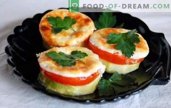 Abobrinha com tomate e queijo, assada no forno: suculenta, com uma crosta maravilhosa. Receitas originais de abobrinha com tomate e queijo, assadas no forno