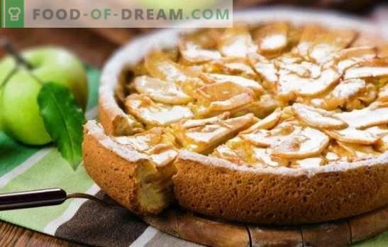 charlotte suave com creme de leite e maçãs é uma iguaria de toda a família. Como fazer um charlotte com creme azedo e maçãs do pão seco