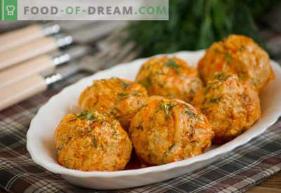 Almôndegas de frango - receitas comprovadas. Como corretamente e saboroso almôndegas de frango cozido.