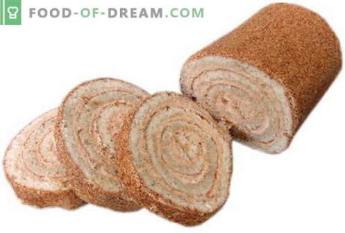 Rolo de biscoito - as melhores receitas. Como corretamente e saboroso rolo de biscoito de cozinha.