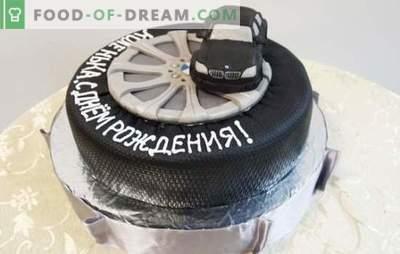 Um bolo de aniversário para um homem é o presente mais doce! Uma seleção de bolos diferentes para homens de aniversário