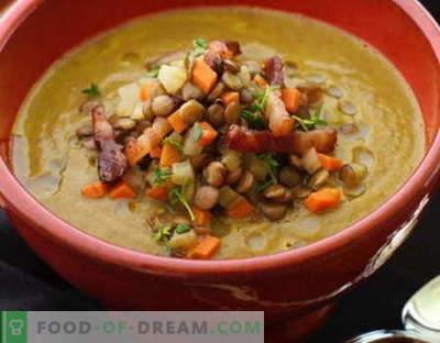 Sopa de lentilha - as melhores receitas. Como corretamente e saboroso cozinhar sopa de lentilha.