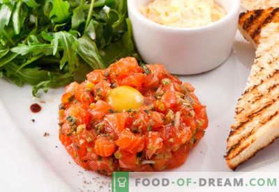 Tartare de salmão - as melhores receitas. Como corretamente e saboroso cozinhar tartare de salmão.