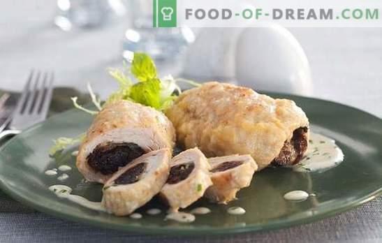 Borst met pruimen: het zal zeker sappig zijn! Recepten tere kippenborst met pruimen in de oven, slowcooker, potten