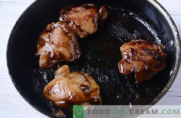 Frango frito em molho de soja em uma panela - por 20 minutos! Receita do autor passo a passo para frango frito dietético em molho de soja