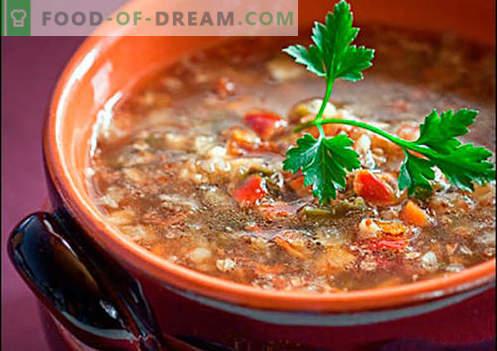 Sopa com trigo sarraceno - receitas comprovadas. Como corretamente e cozinhar sopa com trigo sarraceno.