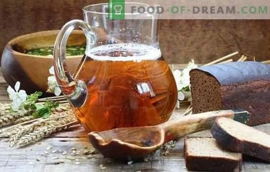 Home brew (receita passo-a-passo) é uma bebida natural refrescante. Receita passo-a-passo para kvass caseiro com fermento e levedura