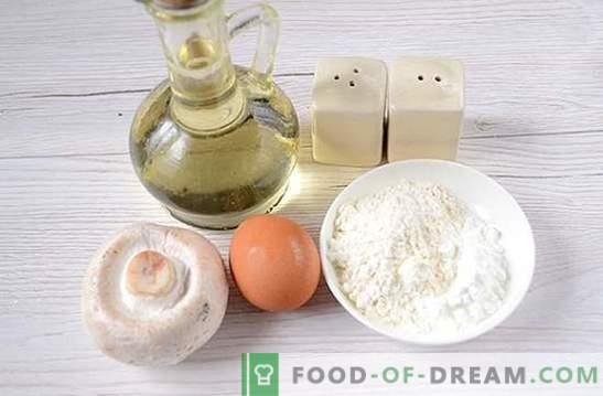 Costeletas de cogumelos: uma receita de fotos passo-a-passo. Cozinhando deliciosos hambúrgueres deliciosos de champignon - diversifique os jantares em família!