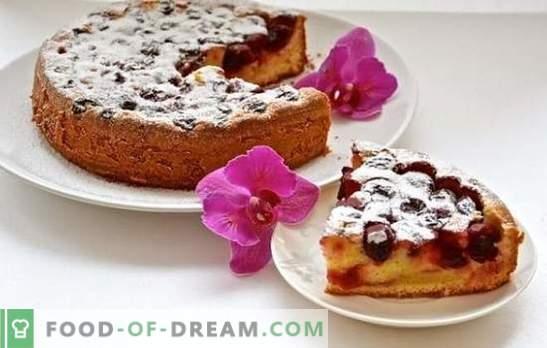 Torta de cereja em um fogão lento - harmonia completa de massa doce e coberturas azedas. Receitas de torta de cereja em um fogão lento para todos os gostos