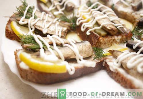 Sanduíches festivos - receita com fotos e descrição passo-a-passo