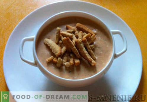 Sopa cremosa - uma receita com fotos e descrição passo-a-passo