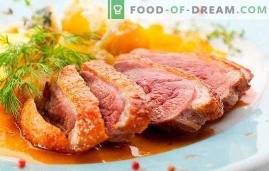 Peito de pato: receitas para assado, assado, jerky. As versões mais deliciosas de peito de pato de acordo com as receitas de chefs da França, Itália e Rússia