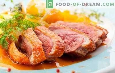 Pechuga de pato: recetas para asados, al horno, cecinas. Las versiones más deliciosas de pechuga de pato según las recetas de los chefs de Francia, Italia y Rusia
