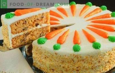 Класична морковска торта - сочен есенски десерт. Класичен морков торта со зачини, крем сирење, ореви, чоколада