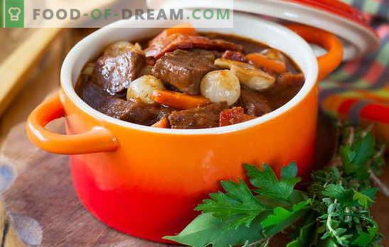 Guisado de porco - nós cozinhamos com prazer! Receitas diferentes de carne de porco guisado com legumes, trigo sarraceno, arroz, feijão verde