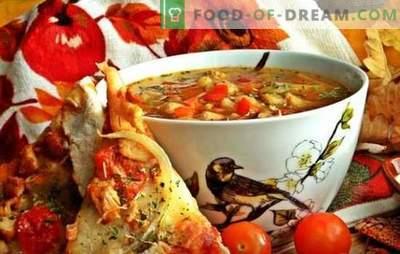 Sopa quaresmal com feijão - tecnologia antiga com novos componentes. Receitas de sopa sem carne com feijão na mais nova cozinha russa