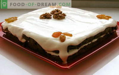 Bolo com passas e nozes: isso é muito simples! Os segredos básicos do pão de ló para um bolo com passas, nozes e sementes de papoula