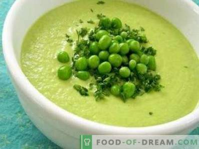 Sopa de creme de ervilha verde