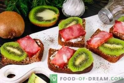 Sanduíches de Kiwi