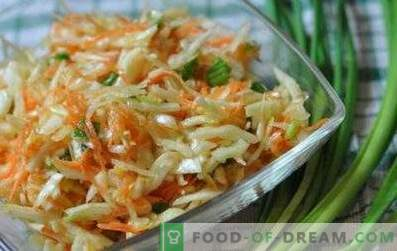 Salads with cabbage and vinegar