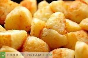 O que fazer se as batatas estiverem muito salgadas