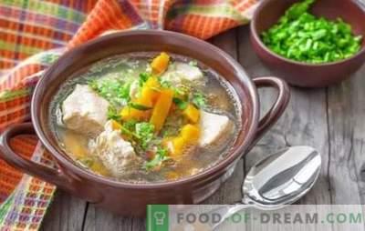 Sopa de porco com batatas - receitas simples e perfumadas. Como preparar sopa rica para sopa de carne de porco com batatas