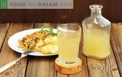 Receitas passo-a-passo para refrescar o kvass branco caseiro. Uma bebida única, saudável e refrescante na sua mesa!